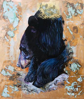 Autumn Bear Print by J W Baker