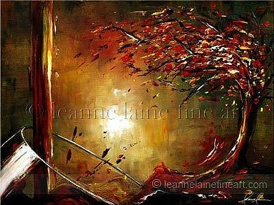 Wine Art Painting - Autumn Blend Wine Art Painting by Leanne Laine
