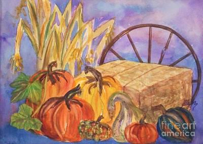 Farm Stand Painting - Autumn Bounty by Ellen Levinson