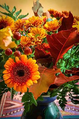Autumn Bouquet Print by Lutz Baar