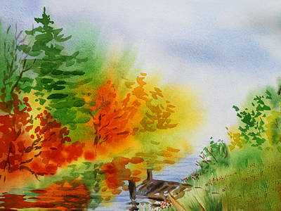 Autumn Burst Of Fall Impressionism Print by Irina Sztukowski