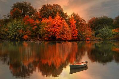 Autumn Canoe Print by Robin-lee Vieira