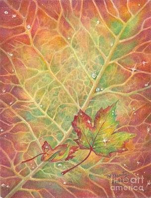 Changing Leaves Drawing - Autumn by Charity Goodwin