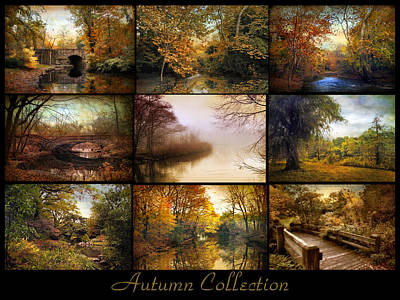 Lakes Digital Art - Autumn Collage by Jessica Jenney