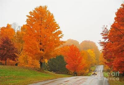 Autumn Color Tour 10 Print by Terri Gostola