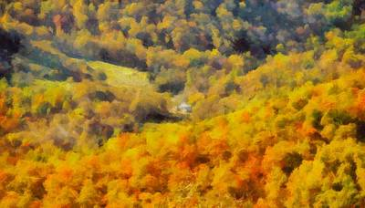 Autumn Colors In Shenandoah Print by Dan Sproul