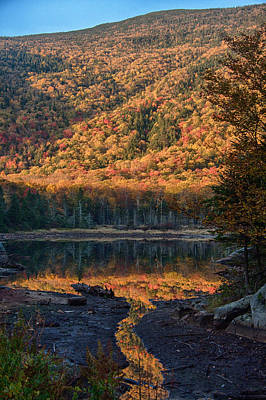 Landscape Photograph - Autumn Colors Reflected In Stream by Jeff Folger