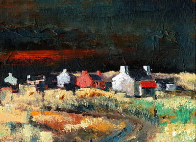Tour Ireland Painting - Autumn Dusk by Val Byrne