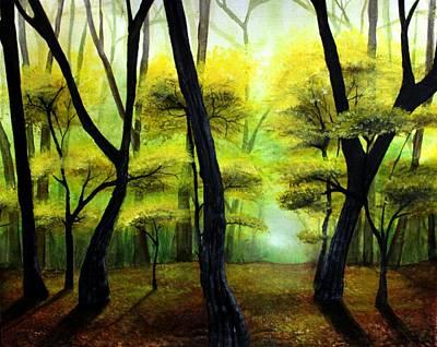 Yellow Painting - Autumn by Erin Scott
