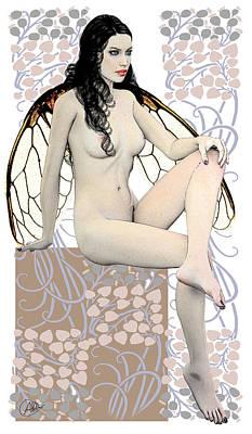 Autumn Fairy Print by Quim Abella