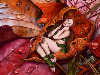 Elf Digital Art - Autumn Fairy by Maggie Terlecki