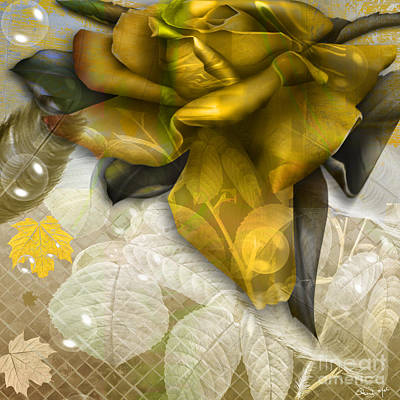 Digital Art - Autumn Flower by Eleni Mac Synodinos