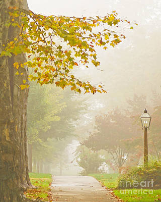 Autumn Fog Print by Rima Biswas