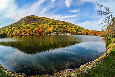 Mirror Imaging Photograph - Autumn Foliage At Hessian Lake, Bear by F. M. Kearney