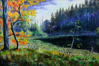 Nature Abstracts Painting - Autumn Forest by Martin Capek