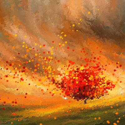 Autumn-four Seasons- Four Seasons Art Print by Lourry Legarde