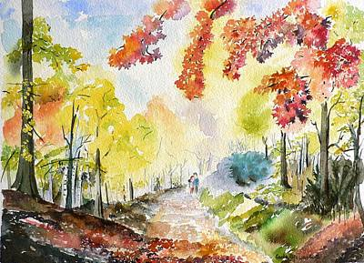 Maple Season Painting - Autumn by Geeta Biswas