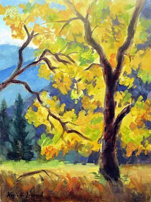 Iconic Painting - Autumn Gold Yosemite Valley by Karin  Leonard