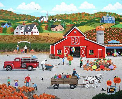 Autumn Harvest Print by Wilfrido Limvalencia