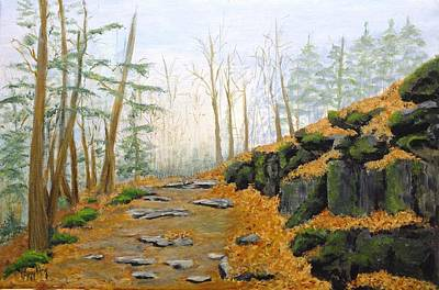 Autumn Hike Print by Peggy King