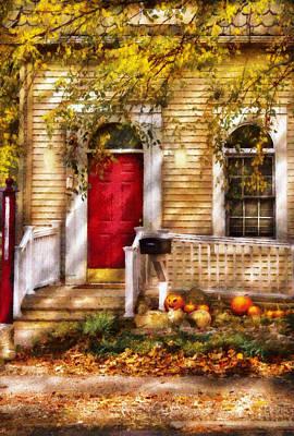 Suburban Digital Art - Autumn - House - A Hint Of Autumn  by Mike Savad