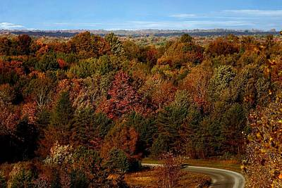 Autumn In Central New York Print by Frank Salvaggio