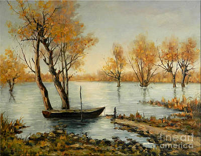 Autumn In Delta Print by Petrica Sincu