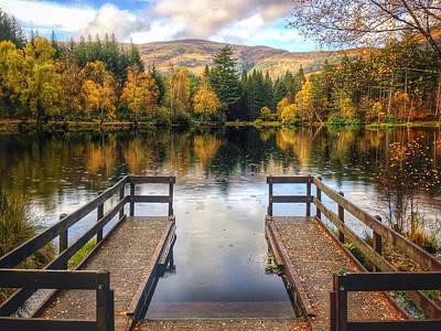 Autumn In Glencoe Lochan Print by Dave Bowman
