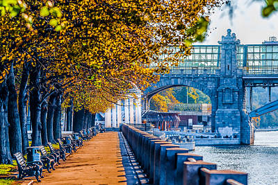 Autumn In Moscow Gorky Park Print by Alexander Senin