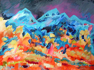 Autumn In Our Mountains Print by Viskan