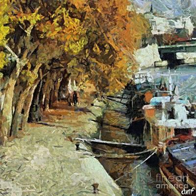 Autumn In Paris Print by Dragica  Micki Fortuna