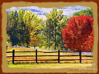 High Sierra Digital Art - Autumn In Reno  by Bobbee Rickard