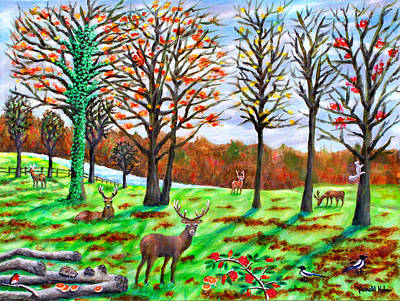 Squirrel Painting - Autumn In Tatton Park by Ronald Haber