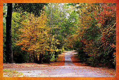 Autumn In Texas Print by Judy Vincent