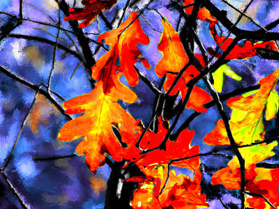Autumn In The Evening Print by Bruce Nutting