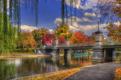 Autumn In The Public Garden - Boston Print by Joann Vitali
