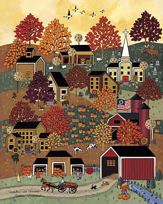 Maple Tree Painting - Autumn In Vermont by Medana Gabbard