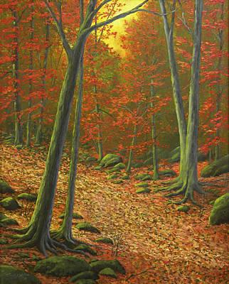 Autumn Leaf Litter Print by Frank Wilson