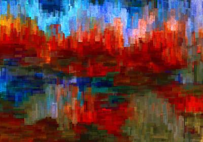 Language Digital Art - Autumn Leaves by Jack Zulli