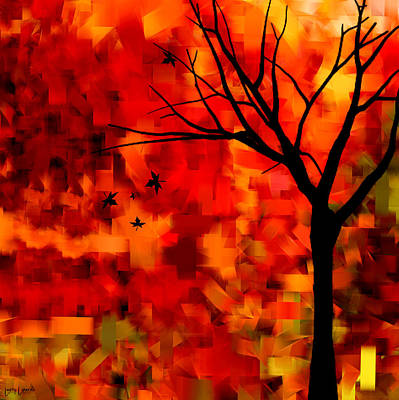 Autumn Leaves Print by Lourry Legarde