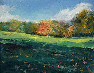 Arbres Painting - Autumn Leaves by Michael Creese