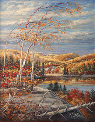 Canadiens Painting - Autumn Magic by Pierre Morin