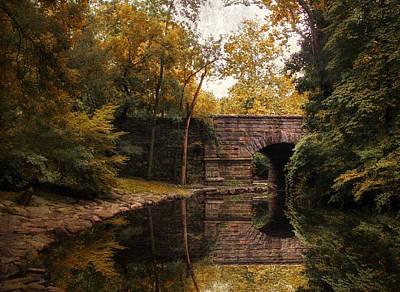 Stone Bridge Photograph - Autumn Mirror by Jessica Jenney
