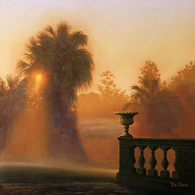 Palmettos Painting - Autumn Mist by Tim Davis