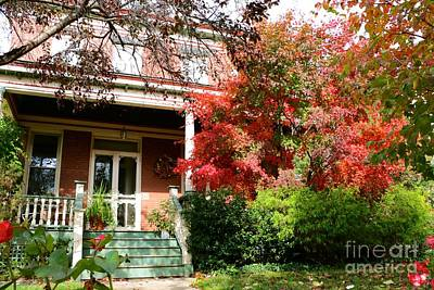 Photograph - Autumn Neighbors by Jay Nodianos
