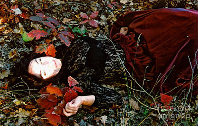 Floating Girl Photograph - Autumn Ofelia by Maja Sokolowska