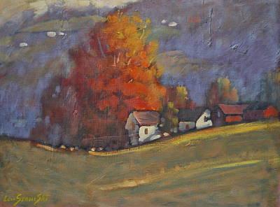 Berkshire Hills Living Painting - Autumn On Airyhill by Len Stomski