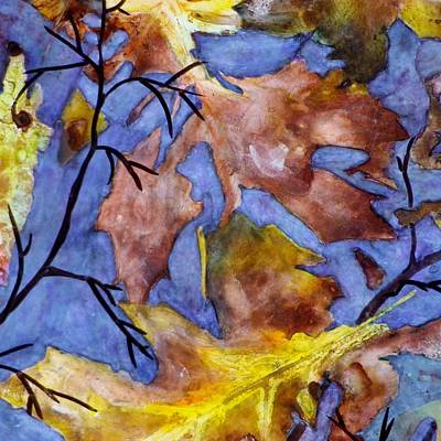 Boardroom Mixed Media - Autumn On Blue Two by David Raderstorf