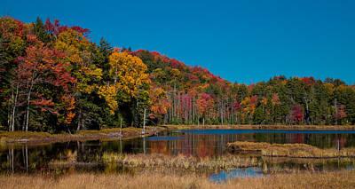 Autumn Landscape Photograph - Autumn On Fly Pond by David Patterson