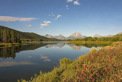 Limited Edition Photograph - Autumn On Oxbow Bend - Mount Moran - Grand Teton National Park Wyoming by Brian Harig